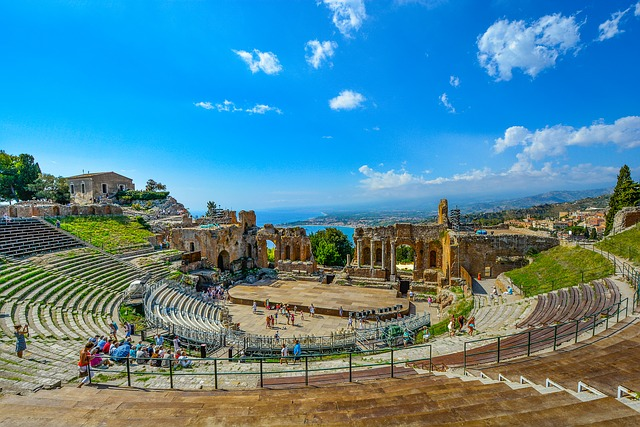 The Majestic Grandeur Of The Ancient Theatre Of Taormina